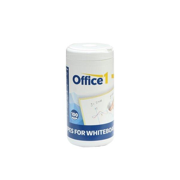 Office 1 Кърпи за почистване на бяла дъска, 100 броя