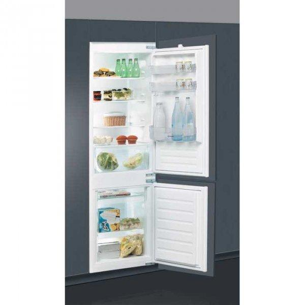 Вграден хладилник с фризер Indesit B 18 A1D/I , 275 l, A+ , Бял , Статична