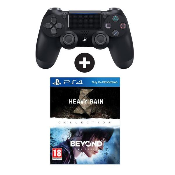 Джойстик PS4 DualShock 4 v.2 + Heavy Rain & Beyond Two Souls (PS4)