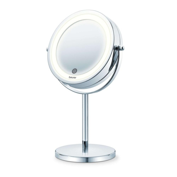 Beurer BS 55 Illuminated mirror, touch sensor, 18 LED light, 7 x zoom, 2 swivering mirrors, 13 cm