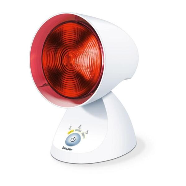 Beurer IL 35 infrared lamp, For colds and muscle tension, 5 angle settings, Pressed glass bulb, 3-level electronic timer