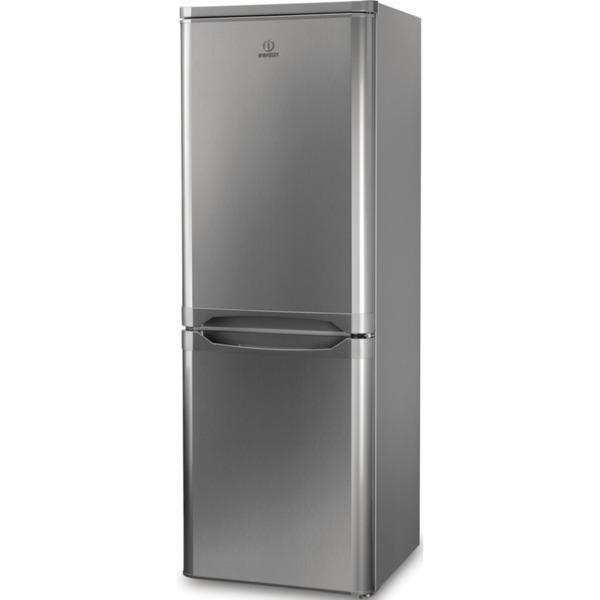 Хладилник с фризер Indesit NCAA 55 NX , 228 l, F , Инокс , Статична