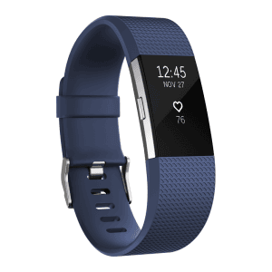 Фитнес гривна Fitbit CHARGE 2 BLUE SILVER L FB407SBUL