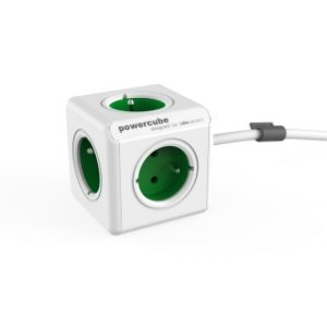 Разклонител Allocacoc POWERCUBE EXTENDED GREEN 5 ГНЕЗДА 1.5M 1