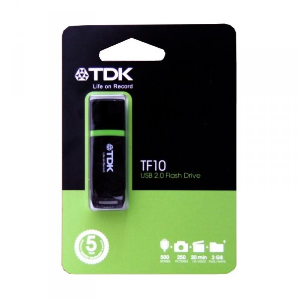 Памет USB TDK USB FLASH TF 10 32GB BLACK/WHITE