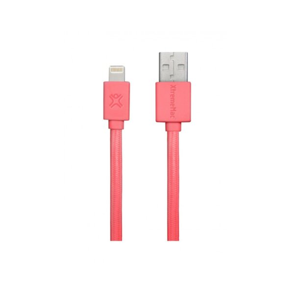 Кабел Xtrememac LIGHTNING FLAT CABLE-RED XCL-USB-73