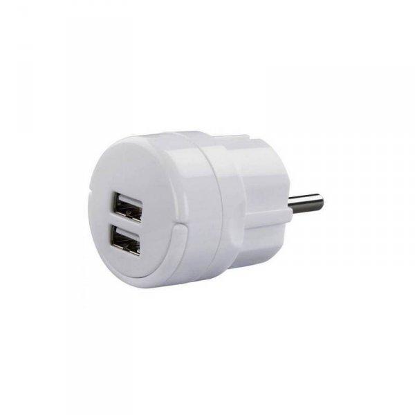 Зарядно устройство Hama 121989 2 USB 220V/5V 2.1A