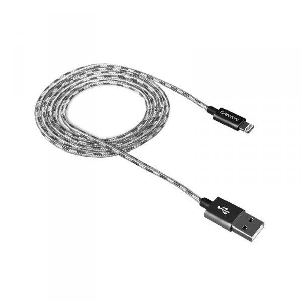Кабел Canyon CNE-CFI3DG LIGHTNING USB