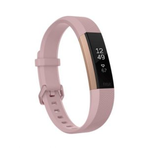Фитнес гривна Fitbit ALTA HR PINK R GOLD S FB408RGPKS