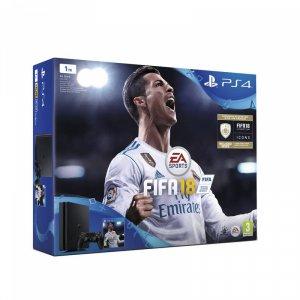 Конзола Sony PS4 1TB SLIM + FIFA 2018 + PS+14 DAY