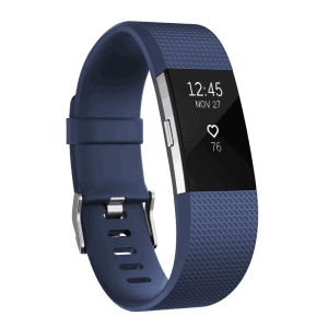Фитнес гривна Fitbit CHARGE 2 BLUE SILVER S FB407SBUS