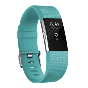Фитнес гривна Fitbit CHARGE 2 TEAL SILVER L FB407STEL