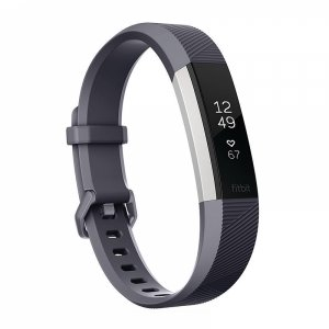 Фитнес гривна Fitbit ALTA HR BLUE GRAY L FB408SGYL