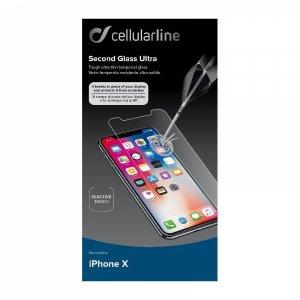 Протектор за дисплей Cellularline iPhone X/Xs ЗАКАЛЕНО СТЪКЛО