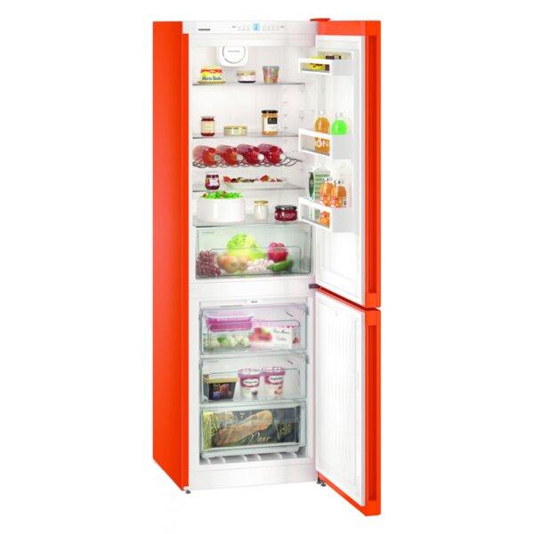 Хладилник с фризер Liebherr CNNO 4313 , 304 l, E , No Frost , Червен