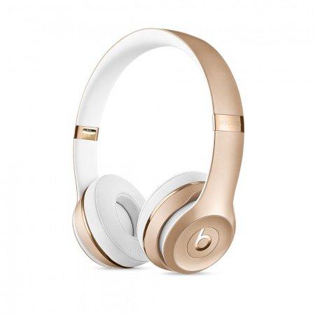 Слушалки с микрофон Beats SOLO3 WIRELESS ON-EAR - GOLD MNER2