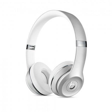 Слушалки с микрофон Beats SOLO3 WIRELESS ON-EAR - SILVER MNEQ2