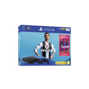 Конзола Sony PS4 1TB SLIM + FIFA 2019 + DS4 v2 + PS+