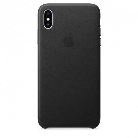 Калъф Apple IPHONE XS MAX LEATHER CASE BLACK MRWT2