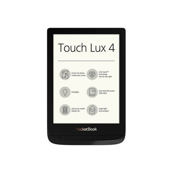 Електронна книга PocketBook PB627 TOUCH LUX 4 BLACK , 1 GHz , 512MB , 6.00000 , 8GB