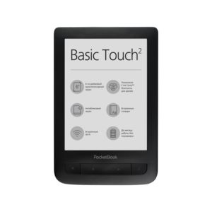 "Електронна книга PocketBook 625 BASIC TOUCH 2 6"" BLACK + калъф"