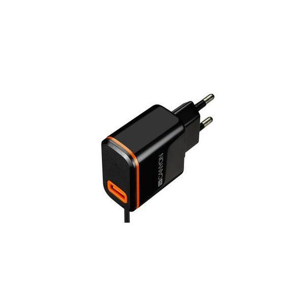 Зарядно устройство Canyon CNE-CHA042BO 220/5V 2.1A TYPE-C