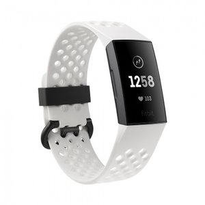 Фитнес гривна Fitbit CHARGE 3 SPECIAL EDITION GRAPHITE/WHITE FB410GMWT