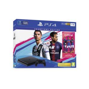 Конзола Sony PS4 1TB SLIM + FIFA 2019 + PS+ DELUXE EDITION