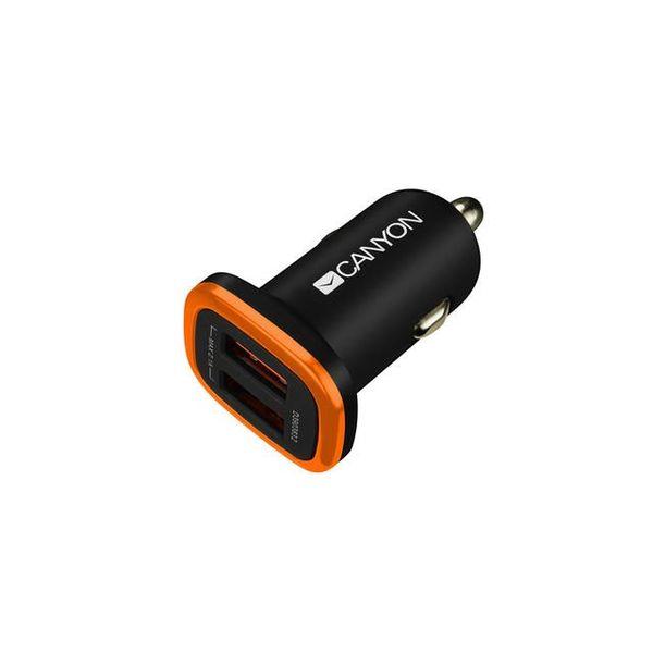 Зарядно устройство Canyon CNE-CCA02B 2xUSB 12-24/5V 2.1A