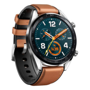 Смарт часовник Huawei WATCH GT FTN-B19V BROWN LEATHER STRAP SILVER