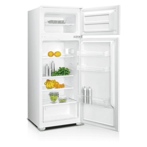 Вграден хладилник с горна камера Crown DF-250BUILD , 207 l, A+ , Бял , Статична