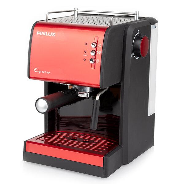 Кафемашина Finlux FEM-1691 IMPRESSION RED , 1100 W, 15 Bar, Еспресо