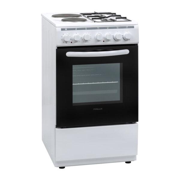 Готварска печка (ток/газ) Finlux FXC 522M , 2 газ 2ток , Бял