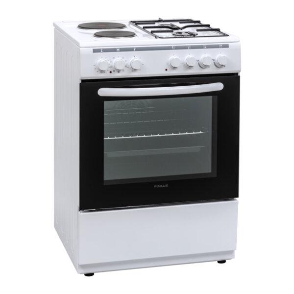 Готварска печка (ток/газ) Finlux FXC 622M , 2 газ 2ток , Бял
