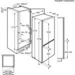 Вграден хладилник с фризер Electrolux ENN2800BOW