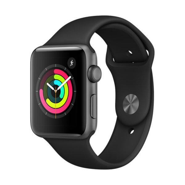 Смарт часовник Apple Watch 3 42mm Space Gray/Black Sport Band mtf32 , 8 , S3 Dual Core