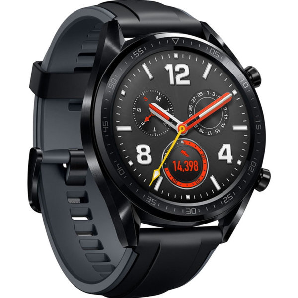 Смарт часовник Huawei WATCH GT FTN-B19S SILICONE SPORT STRAP BLACK , 1.39