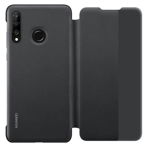 Калъф за смартфон Huawei P30 LITE MARIE VIEW COVER BLACK