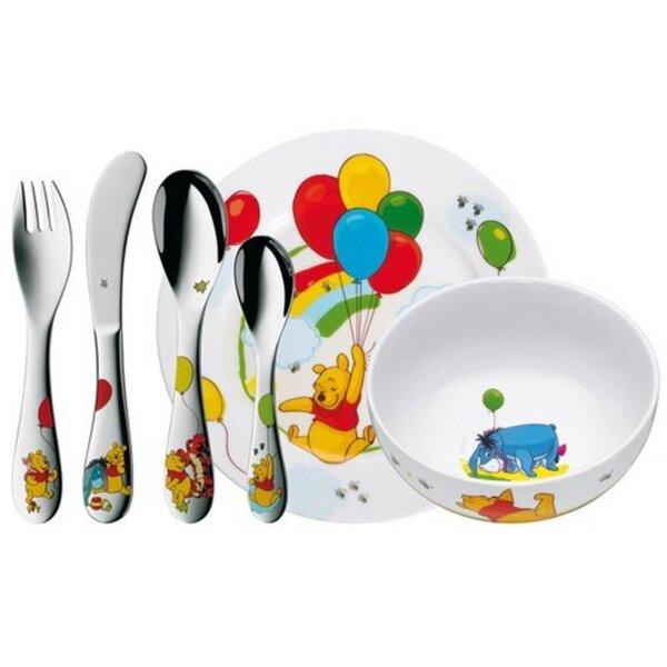 Кухненски прибор WMF 1283509964 Детски комплект 6 части Мечо Пух