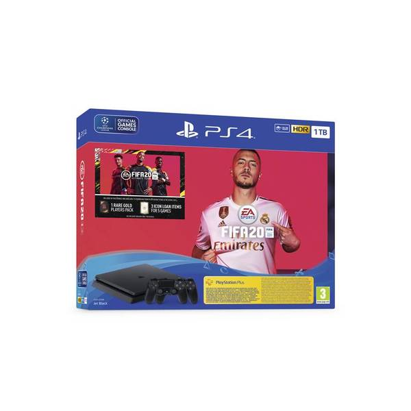 Конзола Sony PS4 1TB SLIM + FIFA 2020 + DS4 v2 + PS+