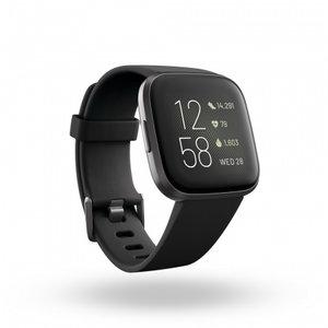 Смарт часовник Fitbit VERSA 2 BLACK/CARBON FB507BKBK , 1.40