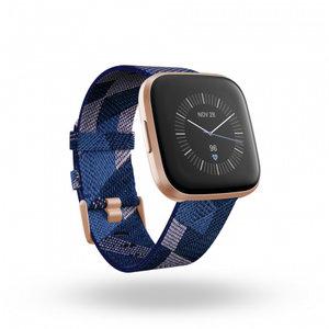 Смарт часовник Fitbit VERSA 2 SE NAVY/PINK WOVEN FB507RGNV