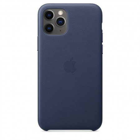 Калъф за смартфон Apple IPHONE 11 PRO LEATHER CASE MIDNIGHT BLUE MWYG2