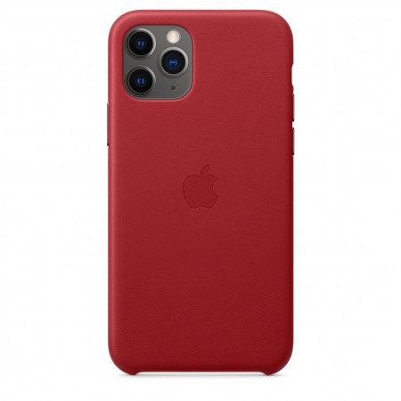 Калъф за смартфон Apple IPHONE 11 PRO LEATHER CASE (PRODUCT)RED MWYF2
