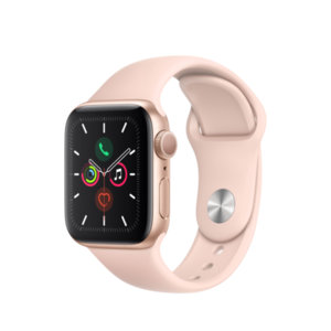 Смарт часовник Apple Watch 5 40mm Gold/Pink Sport Band mwv72 , 1.57 , 32 , S5 64-bit Dual Core