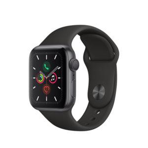 Смарт часовник Apple Watch 5 40mm Space Gray/Black Sport Band mwv82 , 1.57 , 32 , S5 64-bit Dual Core