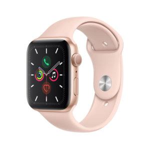 Смарт часовник Apple Watch 5 44mm Gold/Pink Sport Band mwve2 , 1.78 , 32 , S5 64-bit Dual Core