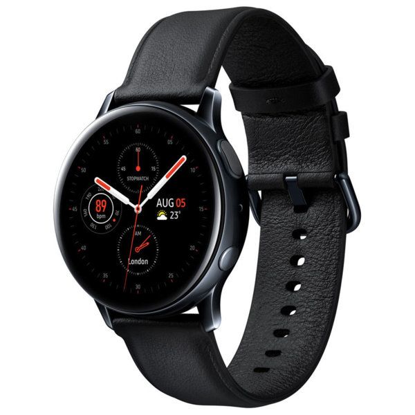 Смарт часовник Samsung GALAXY WATCH ACTIVE 2 BLACK STEEL R820NSK 44 MM , 1.40 , 4 , 768MB , DUAL CORE 1.15GHz