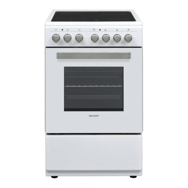 Готварска печка (ток) Sharp KF-56FVMT15WL-CH , Бял , Керамични