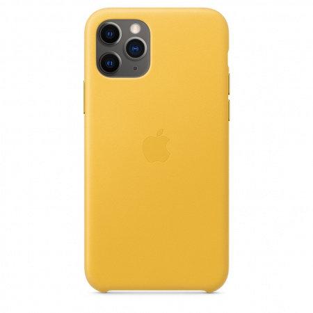 Калъф за смартфон Apple IPHONE 11 PRO LEATHER CASE - LEMON MWYA2